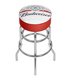 Budweiser® Chrome Padded Bar Stool with Swivel