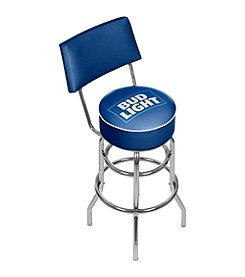 Bud Light® Blue Padded Bar Stool with Back