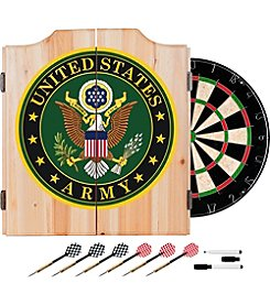 Trademark Gameroom U.S. Army Symbol Wood Dart Cabinet Set