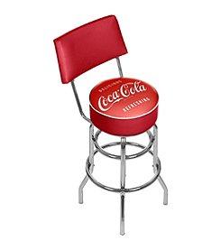 Coca-Cola® Vintage Pub Stool with Back