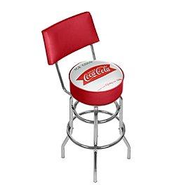 Vintage Coca-Cola® Pub Stool with Back