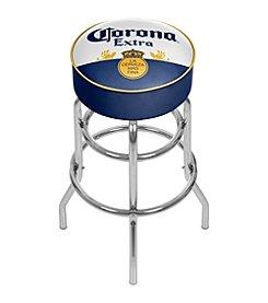 Corona® Chrome Padded Bar Stool with Swivel