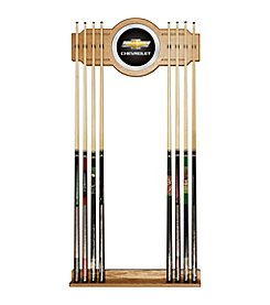 Chevrolet® 2 piece Wood and Mirror Wall Cue Rack