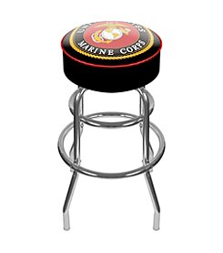 Trademark Gameroom United States Marine Corps Padded Swivel Bar Stool