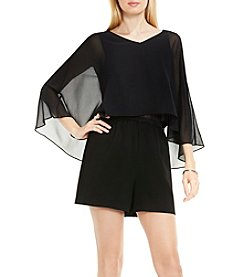 Vince Camuto® Sheer Overlay Romper