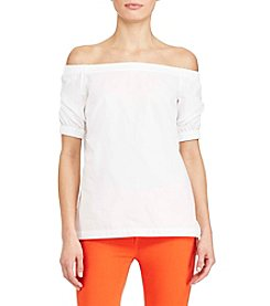 Lauren Ralph Lauren® Petites' Off Shoulder Elbow Sleeve Top