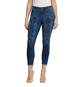 Miracle Jean® Slimming Ankle Embroidered Jeans