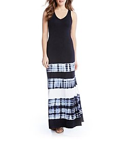 Karen Kane® Tie Dye V Neck Maxi Dress