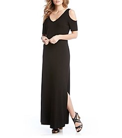 Karen Kane® Cold Shoulder Maxi Dress