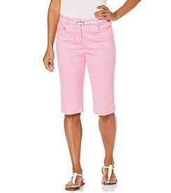 Rafaella® Geo Stretch Shorts