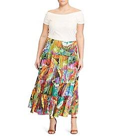 Lauren Ralph Lauren® Plus Size Ruffle Skirt