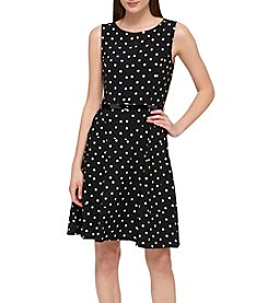 Tommy Hilfiger® Polka Dot Belted Dress