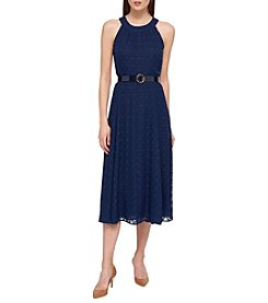 Tommy Hilfiger® Lace Belted Dress