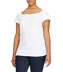 Lauren Ralph Lauren® Plus Size Jersey Off-The-Shoulder Top
