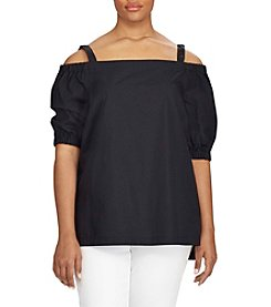 Lauren Ralph Lauren® Plus Size Cotton Off-The-Shoulder Top