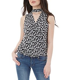 A. Byer Pineapple Wrap Top