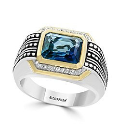 Effy® Sterling Silver And 14K Yellow Gold Men's Ring