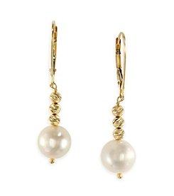 Effy® 14K Yellow Gold Cultured Freshwater Pearl Drop Earrings