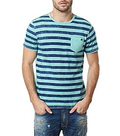 Buffalo by David Bitton Men's Short Sleeve Striped Crewneck Tee
