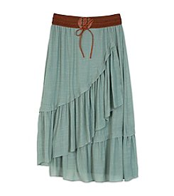 Amy Byer Girls' 7-16 Long Solid Prairie Skirt
