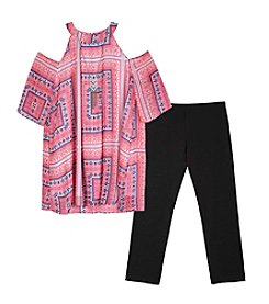 Amy Byer Girls' 7-16 2-Piece Mock Neck Top and Leggings Set