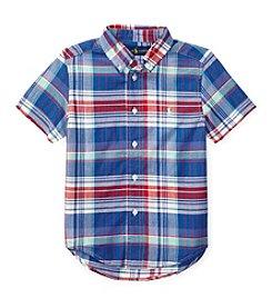 Polo Ralph Lauren® Boys' 2T-4T Short Sleeve Madras Buttondown Shirt