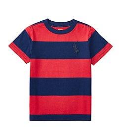 Polo Ralph Lauren® Boys' 2T-7 Short Sleeve Striped Jersey Tee