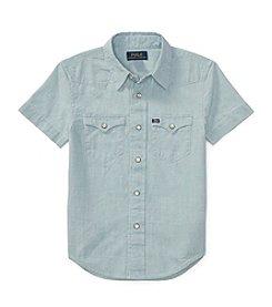 Polo Ralph Lauren® Boys' 2T-7 Boys Chambray Western Shirt