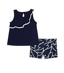 Nautica® Girls' 2T-6X Tank and Shorts Set