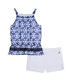 Nautica® Girls' 2T-6X Print Tank and Shorts Set