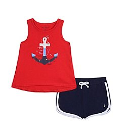Nautica® Girls' 2T-6X Anchor Tank and Shorts Set