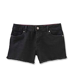 Calvin Klein Jeans Girls' 2T-6X Boyfriend Cut-Off Jean Shorts