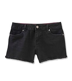 Calvin Klein Jeans Girls' 7-16 Boyfriend Cut-Off Jean Shorts