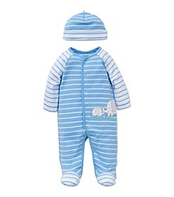 Little Me® Baby Boys' Stripe Elephant Footie and Hat Set
