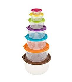14 Piece Colored Food Storage Set - Round