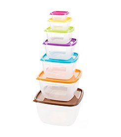 14 Piece Colored Food Storage Set - Square