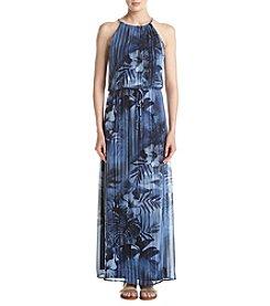 Connected® Indigo Chain Neck Maxi Dress