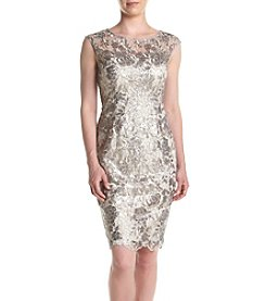 Adrianna Papell® Floral Sequin Embroidered Dress