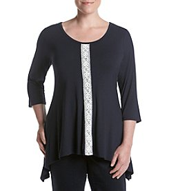 Chelsea & Theodore® Plus Size Lace Trim Top