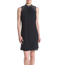 Ivanka Trump® Lace Mock Neck Shift Dress
