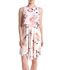 Ivanka Trump® Tiered Floral Printed Dress