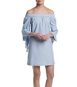 Kensie® Oxford Off Shoulder Dress