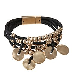 Relativity® Five Row Bead And Disc Bracelet