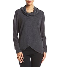 Calvin Klein Performance Cowl Neck Front Pullover