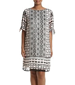 AGB® Geo Printed Dress