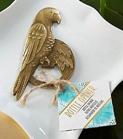 Kate Aspen Set of 12 Antique Gold Parrot Bottle Openers