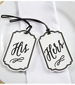 Kate Aspen Set of 2 Classic His and Hers Luggage Tags