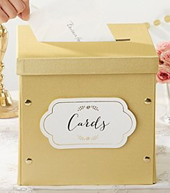 Kate Aspen Gold Shimmer Collapsible Card Box
