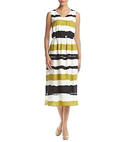 Nine West® Striped Midi Dress