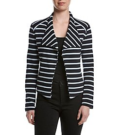 Calvin Klein Striped Open Front Jacket